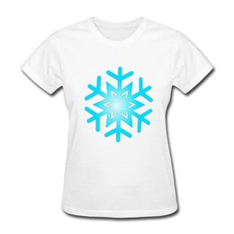 Wholesale Red Flakes - Discount-2017 summer fashion womens t-shirts snow flake short sleeve casual shirt girls tees cute tops
