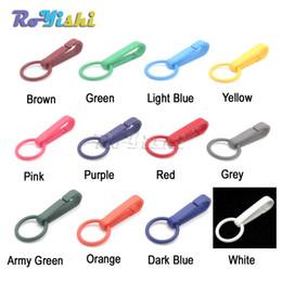100pcs / lot guanti colorati gancio fibbie in plastica moschettone con o-ring usato per tende da doccia da