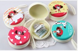 Wholesale Wholesale Cotton Candy Business - DIA7cm Birthday Christmas Gifts Tinplate Cartoon Mini Coin Purse Wallet Sundries Mess Kits Purses Headset Charger Bag Storage Box