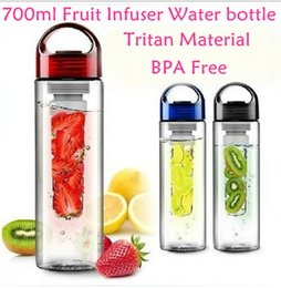 Wholesale 700ML Fruit Infuser Water Bottle for Sports Health Juice Maker Best BPA Free Colors Lemon Bottles by DHL CPA004