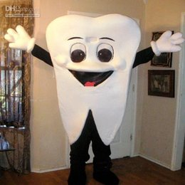 Wholesale Fancy Dress Teeth - Best Tooth Mascot Costume Halloween Fancy Dress Free Shipping Adult Size For Festival advertising