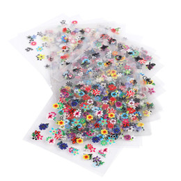 Wholesale 3d Nail Decals Wholesale - 50 Sheets Beauty Floral Design Patterns Nail Stickers Mixed Decals Transfer Manicure Tips 3D Nail Art Decorations