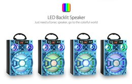 Wholesale Portable Units - LED Mobile Multimedia MS-188BT Wireless Bluetooth Speaker Big Drive Unit Bass Colorful Backlight FM Radio Music Player MOQ:10PCS