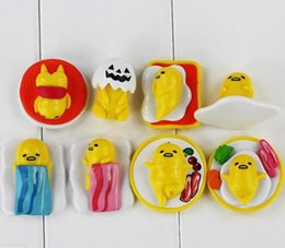 Wholesale Wholesale Kids Collectables - Cute Gudetama Yolk Jun PVC Action figure Collectable modle toy for kids gift 2.5-4.5cm 8PCS LOT free shipping