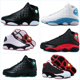Wholesale Lowest Priced Mens Shoes - 2017 New Mens womens Basketball Shoes Air Retro 13 Bred Black True Red Discount Sports Shoe Athletic Running shoes Best price Sneakers