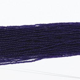 Wholesale Dark Purple Loose Beads - Wholesale-Charms dark purple jade 2mm 3mm hot sale round stone loose beads trendy Jewelry making 15 inchB460