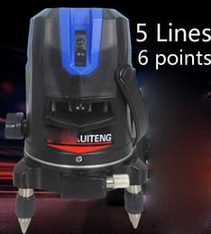 Canada Vente en gros-niveau laser rotatif auto-nivelant 5 lignes 6 points niveau Cross avec fonction extérieure et Slash EU / US Plug 635nM niveau Lazer cheap eu function Offre