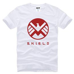 Wholesale Orange Eagles - WISHCART Agents of S.H.I.E.L.D. SHIELD Eagle Printed Mens T Shirt T-shirt Fashion 2016 O Neck Cotton Tshirt Tee Camisetas Masculina
