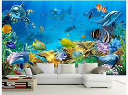 Wholesale Country Paint - 3d wallpaper custom photo non-woven mural The undersea world fish Children room painting picture 3d wall room murals wallpaper