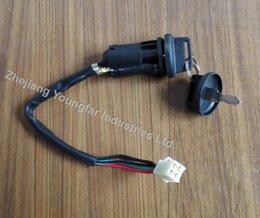 Wholesale Dirt Bike Wiring - 4-wire male plug generic ignition lock key switch (2 keys with dust cap) for Dirt Bike ATV buggy QUAD Pit bike Monkey Bike