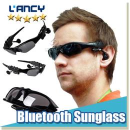 Wholesale Bluetooth Headphones Sunglasses - Bluetooth Sunglasses Headset Sports 3.0 Stereo Wireless Sun Glasses Handsfree Music Call Headphone for iphone samsung HTC Smartphones 2015