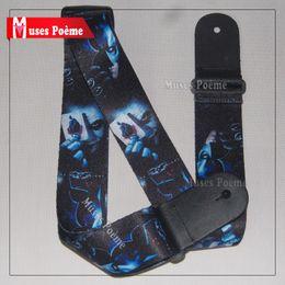 Wholesale Straps For Guitars - New Batman adjustable print Genuine leather ends for Acoustic Guitar Strap bass wholesale