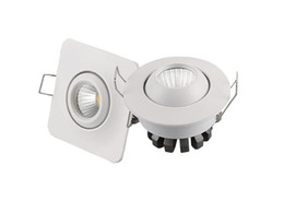 Wholesale Remote Switch Case - Living room dimmable COB downlight 3W round&square shaped white case 3watts celing spot light 100Lm W AC85-265V 3000k 6000k