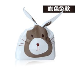 Wholesale Cookies Bunny - 100pcs Bakery packing bags 13.1*22*6cm Small Bunny Ears Cookie bags  Favor candy bags