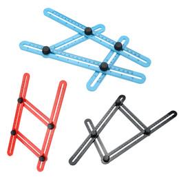 Mesure Outil de modèle de règle multi-angle 4 Couleurs Angle Mesure Tous les angles Formes Angle-izer pour les constructeurs de bricoleurs Artisans ? partir de fabricateur