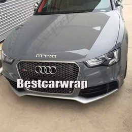 Wholesale grey cars - Ultra 3 Layers Cement Grey Gloss Vinyl wrap Like 3m cement Glossy cement Car Wrap coat skin with Air Free Size:1.52*20M Roll 5x66ft