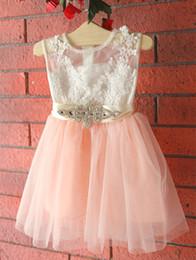 Wholesale Kids Bright Dress - baby kid, girl skirt, lace, bright diamond, girl's flying sleeve, fluffy dress, children's princess skirt wt1701