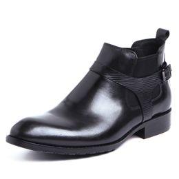 Wholesale Boots Stones - Fashion classic vintage mens dress shoes genuine leather formal designer male shoes men Stone pattern business size37-44