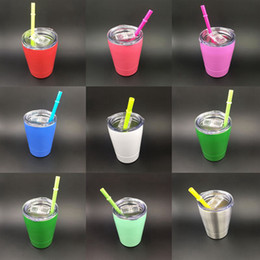 Wholesale Beer Glass Cup - 10 Colors Stainless steel Wine Glasses Hot Stemless Wine Cups Style Beer Bottles Metal Wine Mugs Coolers