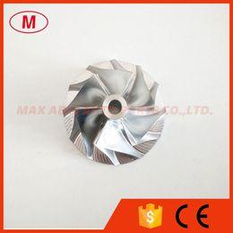 Rueda del compresor del turbocompresor online-CT20 17291-54060 Turbocharger Rebuild Billet Compressor wheel 38.69x57.00mm 6 + 6 palas para 17201-54060 turbo CHRA / Core