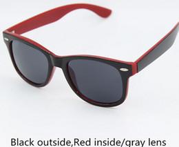 Wholesale Acrylic Angles - Best quality Big Angle Designer Retro sunglass men's women's acetate Black sunglasses Green Glass lens 54mm with case