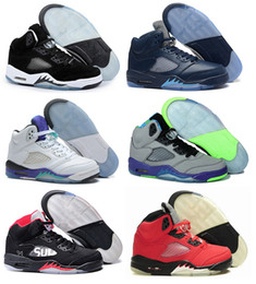 Wholesale Marks Shoes - 2017 wholesale 5 V Basketball Shoes men Olympic Metallic Gold space jam Green bean Mark Ballas Fire Red Metallic Silver sports Sneaker