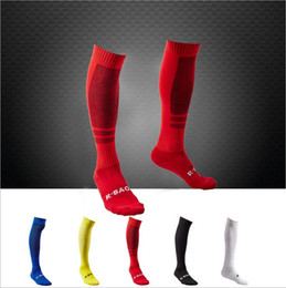 Wholesale Wholesale Black Soccer Socks - mens non-slip brand Sports Football team Soccer cotton Long Socks Breathable Anti-friction Baseball Hockey Stockings compression Socks