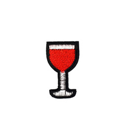 bebidas de vinho tinto Desconto 10 PCS Vinho Tinto Patches Bordados para Vestuário Ferro na Transferência Applique Drink Patch para Calça Jeans DIY Costurar em Etiqueta do bordado