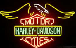 Wholesale Office D - NEW Harley D avidson Glass Neon Sign Light Beer Bar Pub Sign Arts Crafts Gifts Sign 19X19""