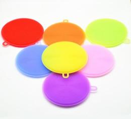 Pan multi fonctions en Ligne-8 couleurs Multi-fonction Magic Silicone Dish Bowl Brosses de nettoyage Pad Pot Pan lavage Cleaner Cuisine Accessoires