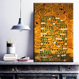 Attractive ZZ1732 Moderne Dekorative Leinwand Kunst Baum Des Lebens Von Gustav Klimt  Leinwand Öl Kunst Malerei Wand Bilder Für Wohnzimmer Dekor Kunst