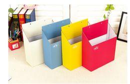 Wholesale File Storage Bags - DHL & SF_Express Wall holder Organizer multi color file Organizer pocket Storage box rectangle case 100pcs (2)