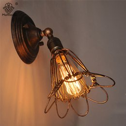 Wholesale Vintage Flower Lamp - Industrial Loft Wall Lamps Up&Down Vintage Creative Flower Design Adjustable Wall Light Decor Bar Office Cafe Interior Lighting