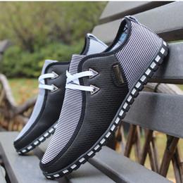 Wholesale Shoes Ultralight - New Fashion Simple Ultralight Flattie Breathable Casual Shose Lace Men Shoes British Style Non-slip Soles Sport Shoes