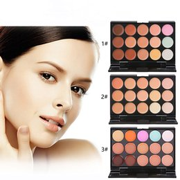 Wholesale Wholesale Quality Chocolate - 15 Colors Concealer Profession make up Face Cream Maquiagens Skin Concealer Palette best quality 100% brand new