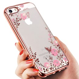 bling flowers wholesale Coupons - Floveme Flora Bling Soft TPU Clear Secret Garden Flowers Phone Back Cover Case for Iphone 6plus 7 8 plus x XS XR XS Max Samsung S8 S9 Note 9