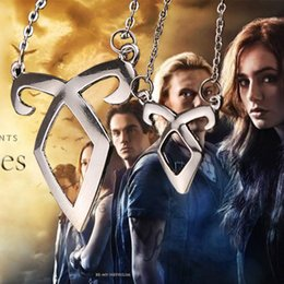 Wholesale Wholesale Hunters - movie Jewelry City Of Bones inspired Angelic Power Rune Necklace Inspired by The Mortal Instruments Shadow hunters Pendant Necklace