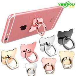Wholesale Mixed Rings - Finger Ring Mobile Phone Ring Holder Bracket Metal Lazy Ring Buckle Mobile Phone Bracket 360 Degree Stand Holder For all Smart Phone