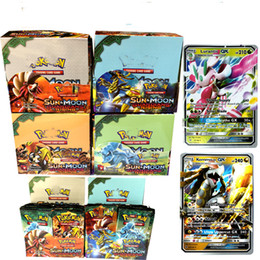 Wholesale Board Settings - 2017 Hot 324pcs set Poke Trading Cards Sun and Moon Version Poke Card Children Kids Anime Cartoon Party Board Games Toys