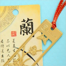 Wholesale Gift Items For Home - Wholesale-(4 pieces lot) Chinese Vintage Retro Bookmark Beautiful Metal Bookmark Essential Tool For Book Home Reading Creative Item Gift