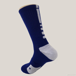 Wholesale Elite Fit - new style high quality dry-fit elite mans thick cushion sole basketball socks hot selling sports socks