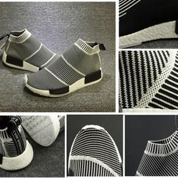 Wholesale Vintage Cotton Lace - Hot Nmd City Sock Men Women Shoe Men NMD CS1 City Sock PK (Core Black Vintage White White Casual Sports Shoes S79150 Footwear