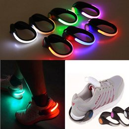Wholesale Shoes For Bikes - LED Luminous Shoe Clip Light Night Safety Warning LED Bright Flash Light For Running Cycling Bike Sport light USZ152