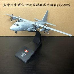 Wholesale Diecast Model Aircraft - Brand New AMER 1 200 Scale CANADA C-130J Hercules Transport Aircraft Diecast Metal Plane Model Toy For Gift Kids Collection