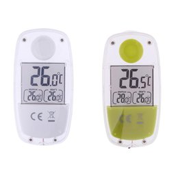 Wholesale Lcd Meter Solar - Indoor LCD Digital Solar Thermometer Power Window Thermometer Temperature Meter Outdoor Indoor Household Thermometers