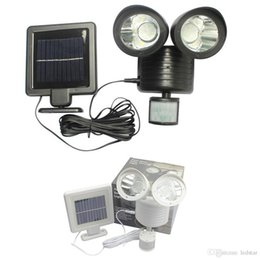 Wholesale Pir Motion Activated - Outdoor Solar Led Wall Pack Lights PIR Motion Sensor Security Lighting Outdoor Indoor Garden Yard Wall Spotlight Motion Activated