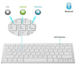 Wholesale ipad computers - 2018 New Best Ultra Slim Wireless Bluetooth 3.0 Keyboard for IOS Android Windows System Tablet PC Computer IPAD Smartphone