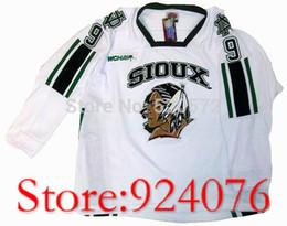 Wholesale North Homes - University #9 JONATHAN TOEWS NORTH DAKOTA Fighting Hockey Sioux Home Jersey White - Customized Sewn On Embroidery XXS-6XL