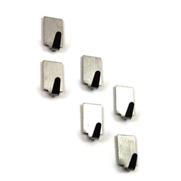 Wholesale Metal Wall Hooks Wholesale - Wholesale- 12pcs Adhesive Stainless Steel Towel Hooks Family Robe Hanging Hooks Hats Bag Key Adhesive Wall Hanger for Kitchen Bathroom