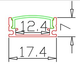 Wholesale Pcs Channels - Free Shipping Factory Pricewholesale price 2m pcs 15PCS lot 80inch anodized aluminium led strip profile,11mm pcb LED bar light ,led channel